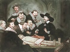 """Scott C.'s version of """"The Anatomy lesson of Dr. Nicolaes Tulp"""" by Rembrandt"""