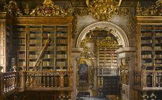 La bibliothèque Joanina de l'université de Coimbra, Portugal