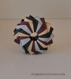 Origami 3D Woven Wreath