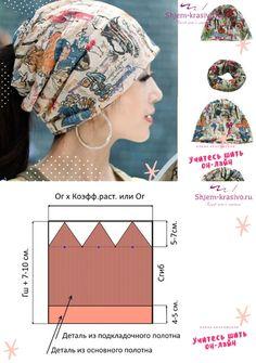 Scrub Hat Patterns, Hat Patterns To Sew, Dress Sewing Patterns, Clothing Patterns, Sewing Aprons, Sewing Clothes, Diy Clothes, Turban Headband Tutorial, Mode Turban