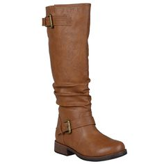 Journee Collection Womens Extra Wide-Calf Buckle Knee-High Riding Boot -- See this great image  : Boots