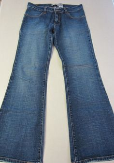 Womens Levi Jeans 537 10 M Blue Denim Low Flare Leg #Levis #LowFlare