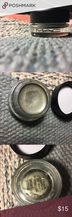 MAC 'Pro Longwear' Paint Pot This beautiful highly pigmented long wearing eyeshadow by MAC also blends smoothly with other products. It is water-resistant, 0.17 oz, dermatologist tested, ophthalmologist tested, non-acnegenic, and only used twice. Enjoy MAC Cosmetics Makeup Eyeshadow