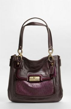 i'm not usually a coach lover....but this purple is beautiful!                                                  COACH KRISTIN SPECTATOR LEATHER ZIP TOTE