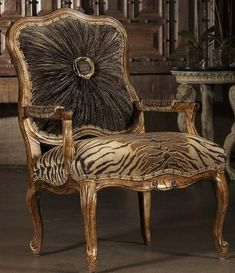 High style Tiger print chair. 4230