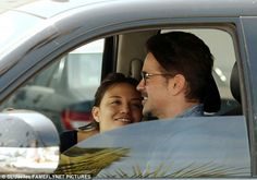 Happiness: The 39-year-old, who was spotted grinning ear to ear, kept it casual in a blue ...