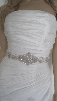 Crystal bridal sash belt rhinestone black by Diamondweddingveil, $69.00