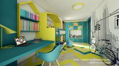 Interior design project for a single-family house in Cluj, Romania - House MB // Design & visualization by ETAJ4