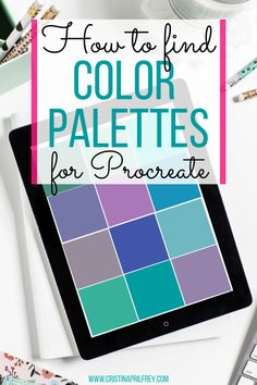 How to find color inspiration and create color palettes in Procreate. Editorial Design, Digital Art Beginner, Calligraphy For Beginners, Affinity Designer, Ipad Art, Find Color, Lettering Tutorial, Graphic Design Tutorials, Brush Lettering