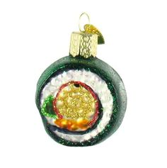 Old World Christmas Sushi Roll Ornament Old World Christmas http://smile.amazon.com/dp/B002CFY18S/ref=cm_sw_r_pi_dp_aDxzub07H7VK0