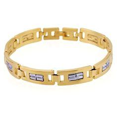 18K115-Brass with gold plated bracelet  http://www.craftandjewel.com/servlet/the-609/18K115-dsh-Brass-with-gold-plated/Detail