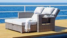 Hampton Outdoor Recliner Daybed - Outdoor Lounges - Outdoor Living - Furniture, Outdoor & BBQs   Harvey Norman Australia