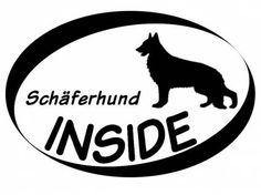 Hund Inside Auto AufkleberInside Aufkleber: Schäferhund