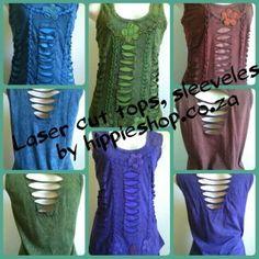 LaserCut Summer tops, sleeveless Back has laser cut detail R450 Freepost