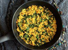 Jazzowe Smaki: Kasza jaglana z curry i ze szpinakiem