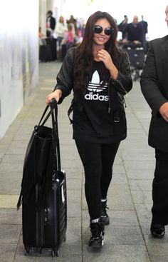 Jesy Nelson arriving at Heathrow Airport - September 6, 2015