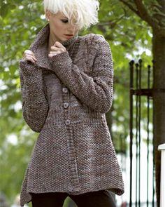 Knitting Fever - free cardigan pattern http://www.knittingfever.com/c/leaflet/13201/