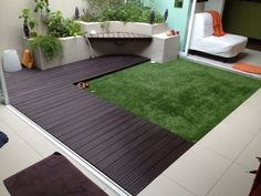 Another ideas for outdoor garden with Acesturf Artificial Grass & Heveatech outdoor decking. Tell us what you think about it ! Acesturf Premier 40mm/Heveatech-Palisander Location:PJ