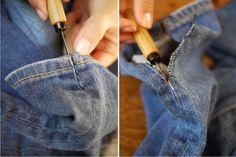 transformar calca jeans em saia longa 5
