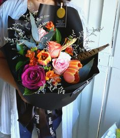 flowerpotts.co.nz Florist Hawera Bouquet Black