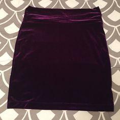 Nollie skirt Deep purple, velvet, body con skirt. Worn once. Nollie Skirts