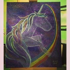 Unicorn acrylic painting
