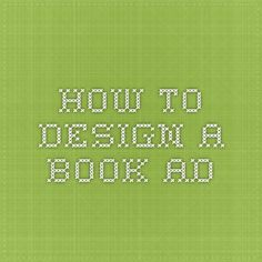 how to design a book ad