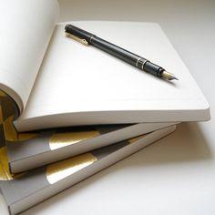 Gold And Grey Dot Notebooks | BeGolden