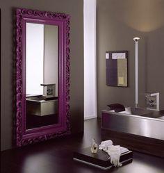 Violet baroque mirror Home decor Interior decoration #mirror #violet #interiordesign #bathroom #design #baroqueframe