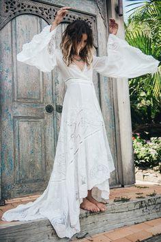 hippie wedding dress 382665299581458082 - The bohemian Gwendolyn wrap wedding dress from Spell Source by Wrap Wedding Dress, Sexy Wedding Dresses, Wedding Dress Sleeves, Sexy Dresses, Nice Dresses, Wedding Gowns, Lace Wedding, Wrap Dress, Wedding Hands