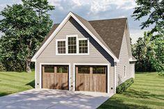 Craftsman Plan: 838 Square Feet, 1 Bathroom - 035-00857 Garage Plans With Loft, Loft Plan, Garage Loft, Garage House, Garage Ideas, Garage Plans With Apartment, Car Garage, Above Garage Apartment, House Plan With Loft