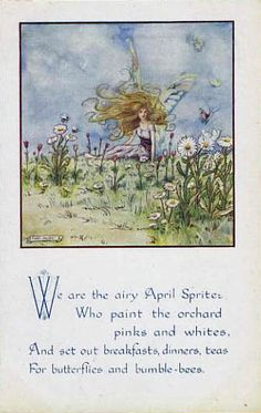 Helen Jacobs. April. (postcard)