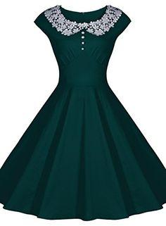 Fashion Bug Womens Classy Vintage Audrey Hepburn Style 1940s Rockabilly Evening Dress www.fashionbug.us #plussize #fashionbug #vintage #pinup #rockabilly 1X 2X 3X 4X 5X