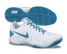 NIKE City Court VII Ladies Tennis Shoes, White/Blue, US10 Nike. $75.32