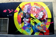 """""""Boheme"""" mural in Halleck Alley (on Front and California Streets) by Bay Area-born Alison Torneros aka Hueman."""