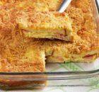 Πανεύκολο σουφλέ με ψωμί του τοστ Lasagna, Quiche, Food And Drink, Eggs, Cooking, Breakfast, Ethnic Recipes, Yoga Pants, Lasagne