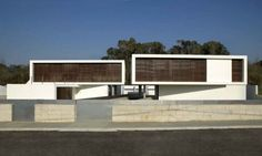 modern architecture of the miramar concrete houses
