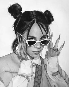 [New] The 10 Best Drawing Ideas Today (with Pictures) - Girls Cartoon Art, Sketches, Sketch Book, Celebrity Drawings, Art, Portrait, Fan Art, Billie Eilish, Cool Drawings