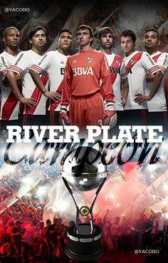 River Plate Campeón Copa Sudamericana 2014 Ac Milan, Lionel Messi, Carp, Deadpool, Gothic, Soccer, Passion, Football, Plates