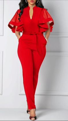 new year style Outfits - 2020 Sexy Jumpsuits Outfits Style For Girls Latest African Fashion Dresses, Women's Fashion Dresses, Classy Dress, Classy Outfits, Jumpsuit Outfit, Dress Outfits, Casual Dresses, Godmother Dress, Looks Chic