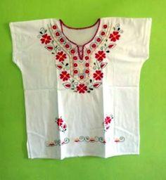 Resultado de imagen para blusas de manta bordadas a mano