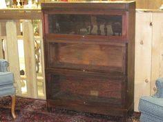 Antique Globe Werolcke Mahogany Lawyers Stack Bookcase
