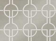 A velvety flock wallcovering featuring a glamorous chain link design on a linen…