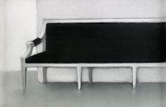 Interior II (pastel on paper) Mats Gustafson Mats Gustafson, Love Seat, Auction, Pastel, Couch, Contemporary, Interior, Furniture, Home Decor