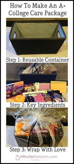 Diy dorm room crafts : DIY College Care Package Creation. If you send me care packages throughout college- I will love you for forever and then some.