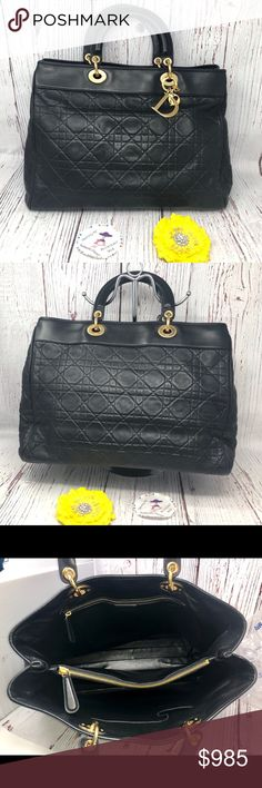 237a025bbf81 Lady Dior Soft Leather Bag Price is Firm 100% Authentic Preowned Made in  Italy Gold