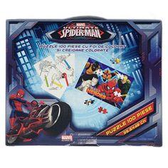 Servieta cu puzzle Spiderman Puzzles, Spiderman, Marvel, Disney, Character, Spider Man, Puzzle, Disney Art, Amazing Spiderman