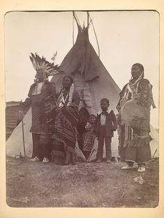 Lakota -Two Strike and Family by Tipi