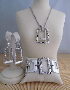 "Brighton ""Nexus"" Necklace Bracelet & Earrings - 3 piece set #Brighton"