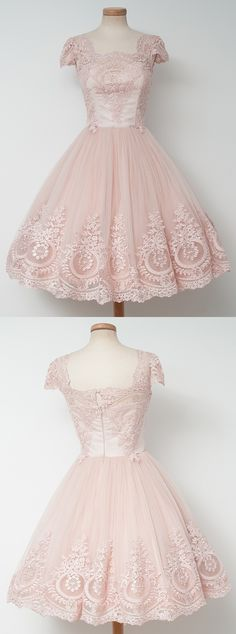 2017 homecoming dresses,short homecoming dresses,lace homecoming dresses,pearl pink homecoming dresses @simpledress2480